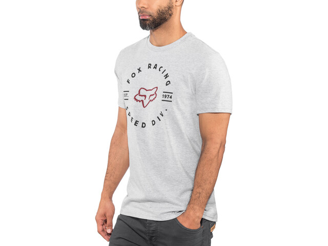 Fox Clocked Out Basic SS Shirt Herr light heather grey